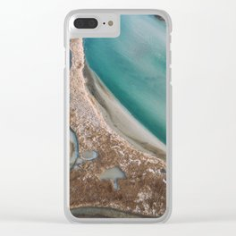 Winter Morning at Charlestown Breachway Clear iPhone Case