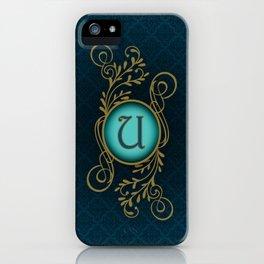 Letter U iPhone Case