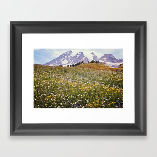 Rainier Flowers Framed Art Print