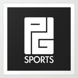 PG Sports (Black) Art Print