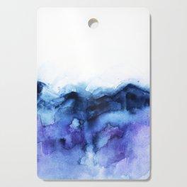 Abstract Indigo Purple Mountians Cutting Board