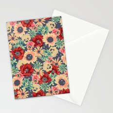 SEPIA FLOWERS -poppies, pansies & sunflowers- Stationery Cards