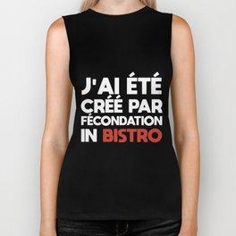 Jai ete cree par fecondation in bistro french Biker Tank