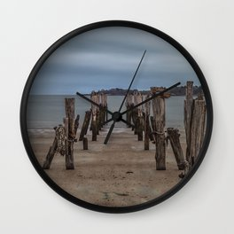 West beach a low tide Wall Clock