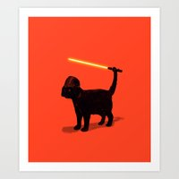 baby Art Prints featuring Cat Vader by nicebleed