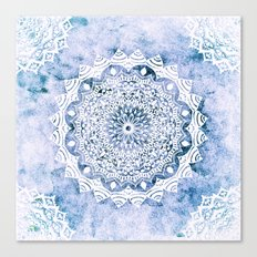 BLUE SKY MANDALA Canvas Print