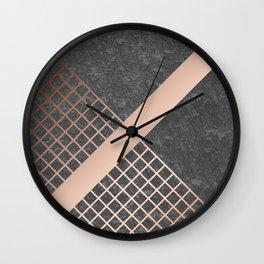 Copper & Concrete 03 Wall Clock