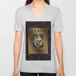 BLACK ROSE TRIPTYCH | Cupid and Psyche Unisex V-Neck