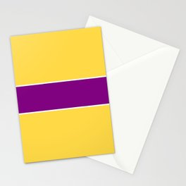 just two colors 11: orange and purple Stationery Cards