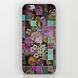 Floral quilt iPhone Skin