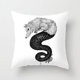 Loup de mer Throw Pillow