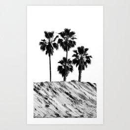 Palm Tree Noir #25 Art Print