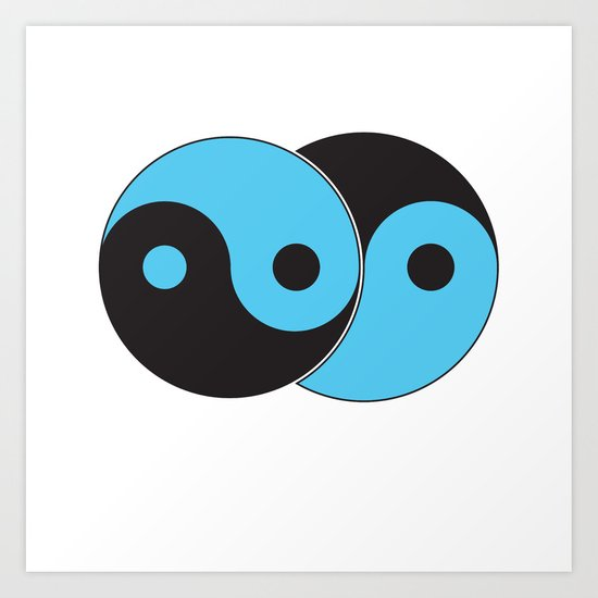 Reflections of Yin and Yang Art Print