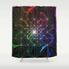Spotty Variation 2 Geometric Art Print. Shower Curtain