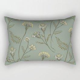 Dazed - Floral Pattern Rectangular Pillow