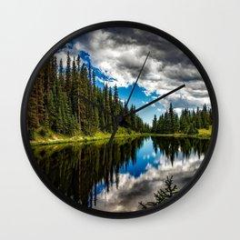 Big Sky, Lake Irene, Colorado Wall Clock