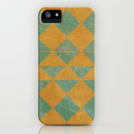 Emerald and Gold Marble Design iPhone Case