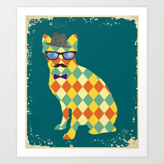 Argyle Terrier  Art Print