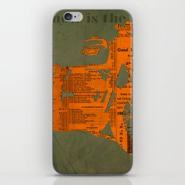 Orange and green abstract motorcycle, man cave decoration, gift for him iPhone Skin