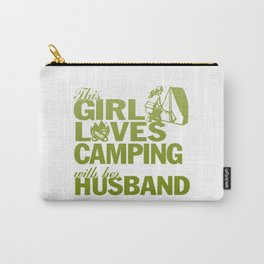LOVES CAMPING WITH HER HUSBAND Carry-All Pouch