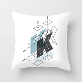 The Exploded Alphabet / K Throw Pillow