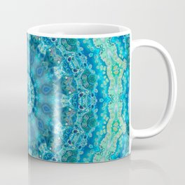 Big Blue Swirl - Abstract Kaleidoscope Art Coffee Mug