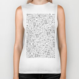 All Tech Line / Highly detailed computer circuit board pattern Biker Tank