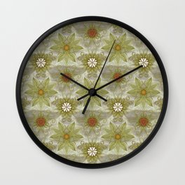 Vintage English Garden Pattern Wall Clock
