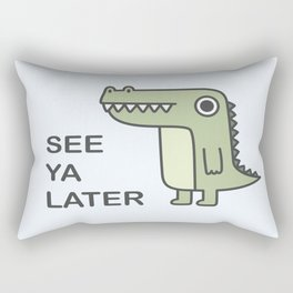 See Ya Later Alligator Rectangular Pillow
