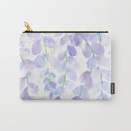 Wisteria Watercolor Print, Floral Watercolor by Liz Ligeti Kepler Carry-All Pouch