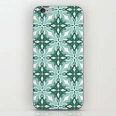 Watercolor Green Tile 2 iPhone & iPod Skin