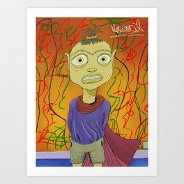 """Crayola"" Illustrated by Kieran David Art Print"