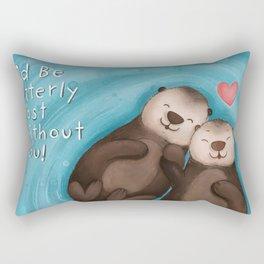Otterly in Love Rectangular Pillow