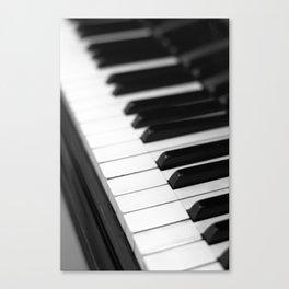 piano keys  black and white Canvas Print
