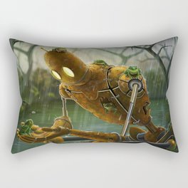 Rust,Rain, and Ribbits Rectangular Pillow