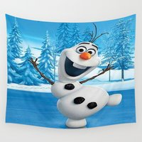 olaf Wall Tapestries featuring olaf best decoration ideas design by customgift