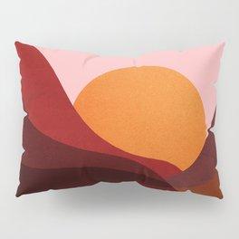 Abstraction_Mountains_SUNSET_Minimalism Pillow Sham