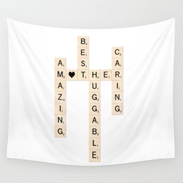 MOTHER's Day Scrabble Art Gift Wall Tapestry