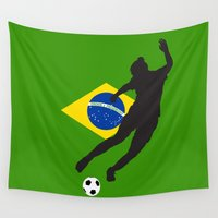 brazil Wall Tapestries featuring Brazil - WWC by Alrkeaton