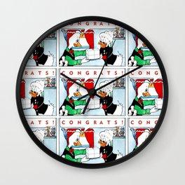 Chasoffart-Congrats! Wall Clock