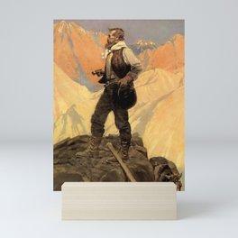 "N C Wyeth Painting ""The Prospector"" Mini Art Print"