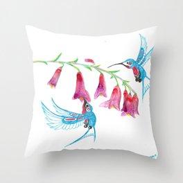 Hummingbird Spirit Guides Throw Pillow