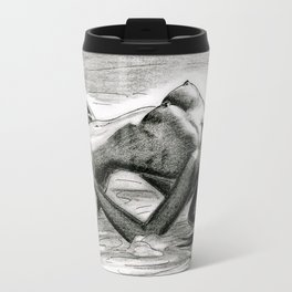 Passion in Black and White Travel Mug