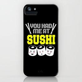 Sushi Roll Kawaii Funny Maki Japanese Food iPhone Case