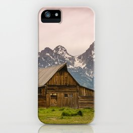Grand Teton National Park Adventure Barn - Landscape Photography iPhone Case