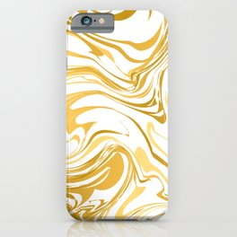 White and gold marble texture  iPhone Case