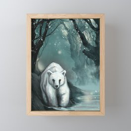 Spirit Bear Framed Mini Art Print