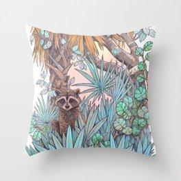 Jungle Coast Dos Throw Pillow