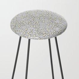 Enokitake Mushrooms (pattern) Counter Stool