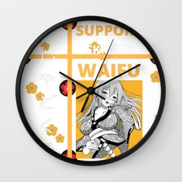 Gashadokuro Yokai Waifu Wall Clock